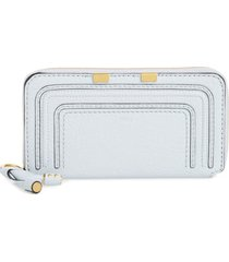 women's chloe 'marcie - long' zip around wallet - white