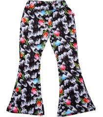 pantalón negro cante pido tulipanes