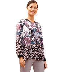 blouse amy vermont paars::zwart