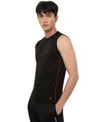 camiseta hombre m/s contraste color negro, talla m