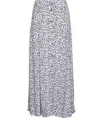 printed crepe knälång kjol ganni