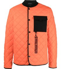 moose knuckles fall out jacket - orange