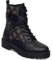 orana/stivaletto /leat shoes boots ankle boots ankle boot - flat brun guess