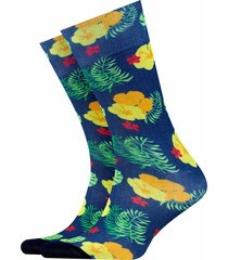 burlington hawaii print fashion socks | blue | 21889-6660