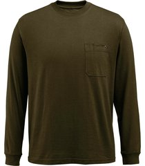 wolverine men's knox long sleeve tee olive, size xxl