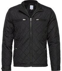 quilted jacket doorgestikte jas zwart lindbergh