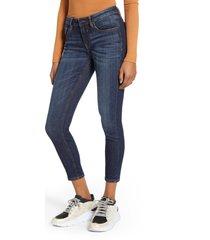 petite women's vigoss jagger crop skinny jeans, size 29p - blue