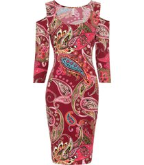 abito con cut-out (rosso) - bodyflirt boutique