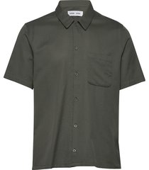 avan jf shirt 11018 kortärmad skjorta grön samsøe samsøe