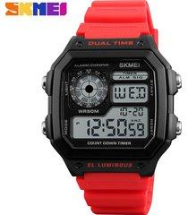 reloj deportivo para hombre skmei modelo 1299-rojo