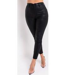 akira on duty vegan leather high rise skinny pants