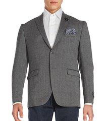 original penguin men's two-button jacket - grey - size 40 l