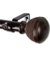 """braided curtain rod 1"""" od 120-170 inch"""