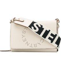 stella mccartney stella logo crossbody wallet - neutrals