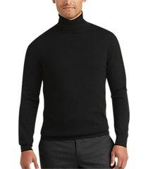 joseph abboud black modern fit turtleneck sweater