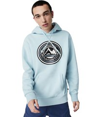 converse sudadera con capucha mountain club patch para hombre blue