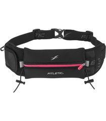 pochete para corrida com porta gel e extra bolso ultimate ii fitletic zãper rosa - multicolorido/preto - dafiti