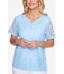 alfred dunner petite classics diamond lace t-shirt