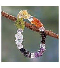 multi-gemstone stretch chakra bracelet, 'peaceful friendship' (india)