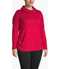 lane bryant women's side-ruched cowl-neck sweater 26/28 crimson