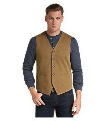 1905 collection tailored fit cotton canvas vest clearance
