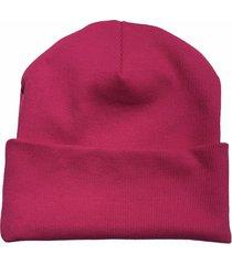 bawełniana czapka beanie moc fuksji