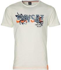 lerros t-shirt - modern fit - wit