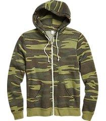 alternative apparel modern fit rocky eco-fleece hoodie camo