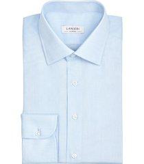 camicia da uomo su misura, ibieffe, azzurra inglese dobby, primavera estate | lanieri