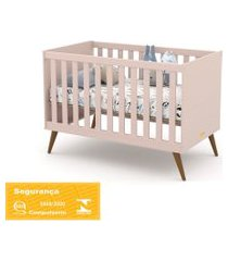 berço gold rosê/eco wood matic móveis rosa