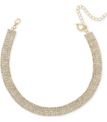 "thalia sodi gold-tone crystal pave choker necklace, 13"" + 3"" extender, created for macy's"