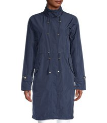 barbour women's hooded parka - navy - size 8