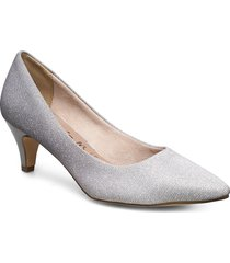 woms court shoe shoes heels pumps classic silver tamaris