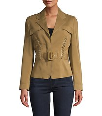 laced & belted jacket