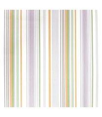 kit 2 rolos papel de parede fwb listras laranja verde lilás e branco