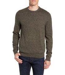 men's nordstrom men's shop cotton & cashmere crewneck sweater, size xx-large - green