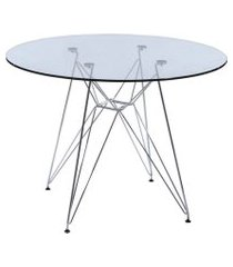 mesa de cozinha redonda eiffel incolor 120 cm