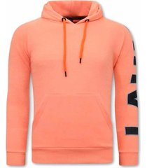 sweater tony backer oversized hoodie orange