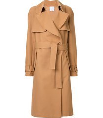 acler walsh mini trench coat - brown