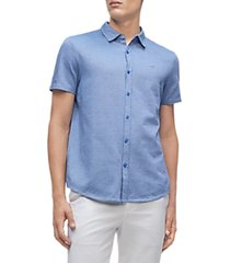 calvin klein liquid touch birdseye short sleeve shirt