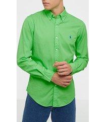 polo ralph lauren long sleeve sport shirt skjortor lime