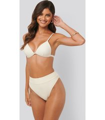 na-kd swimwear maxi highwaist bikini panty - offwhite