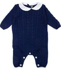 little bear blue cotton romper