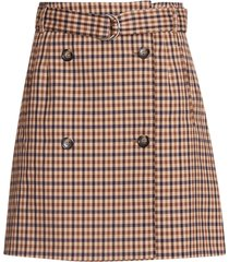 baum und pferdgarten check double-breasted mini skirt