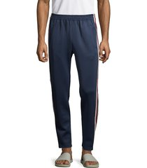 cult of individuality men's side-snap track pants - navy - size l