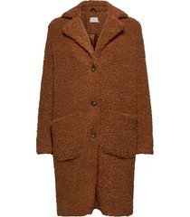 balma teddy coat- min 4 pcs outerwear faux fur brun kaffe