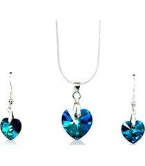 conjunto azul swarovski crystals gloss crystal