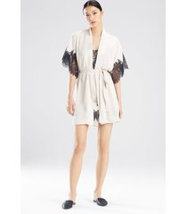 natori l'amour short sleeves sleep & lounge bath wrap robe, women's, size l natori