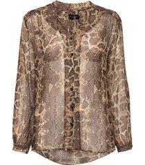 3400 - cecil blouse lange mouwen bruin sand