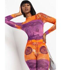 akira c.r.e.a.m mesh long sleeve bodysuit